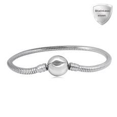 20CM Charm Bracelet Pulseras de acero inoxidable con clip liso