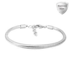 17cm-20cm Charm Bracelet Pulseras extensibles de acero inoxidable