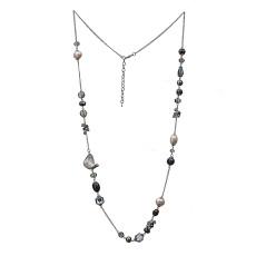 Collier de mode 80cm long fait à la main perlé collier de coquilles naturelles