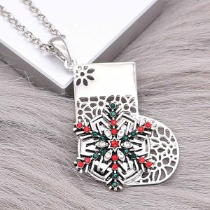 Christmas Socks Snap Pendant fit 20MM snaps style jewelry KC0478