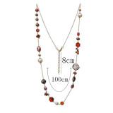 Collier fantaisie Long 80cm Collier de perles naturel perlé fait main