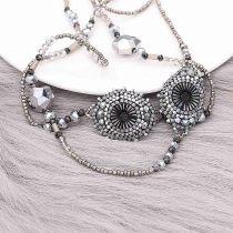 Collier long avec perles à la main 80CM