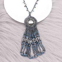 Fashion 80CM collier de perles longues avec pompons