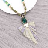 À la mode 80cm long collier pompon à la main perlé collier de bijoux à franges