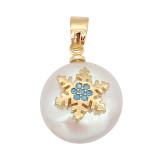 Le pendentif en perle naturelle est livré avec de jolis accessoires dorés002