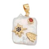 Le pendentif en perle naturelle est livré avec de jolis accessoires dorés008