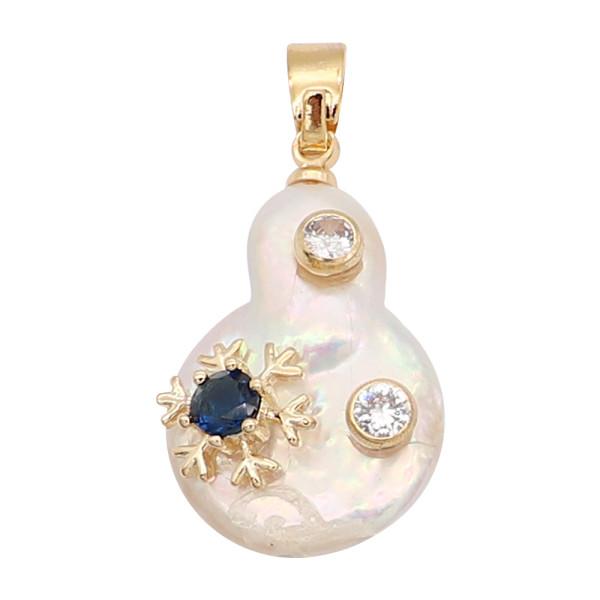 Le pendentif en perle naturelle est livré avec de jolis accessoires dorés011