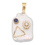 Le pendentif en perle naturelle est livré avec de jolis accessoires dorés009