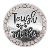 20MM Mother snap silver Plated With white strass KC9308 snaps jewerly
