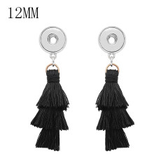 1 buttons KS1300-S with Three layers of tassels new type Earrings fit 12mm snaps chunks