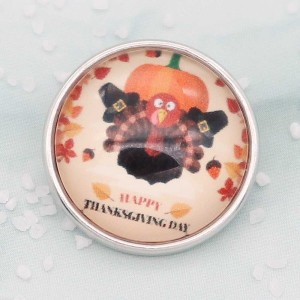 Thanksgiving Day snaps art glass print chunks Orange