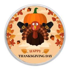 День благодарения защелкивает художественное стекло с кусочками оранжевого цвета