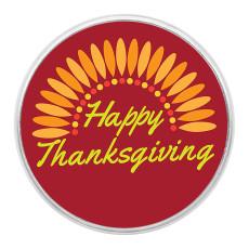 El Día de Acción de Gracias se ajusta a trozos de impresión de vidrio de arte rojo anaranjado