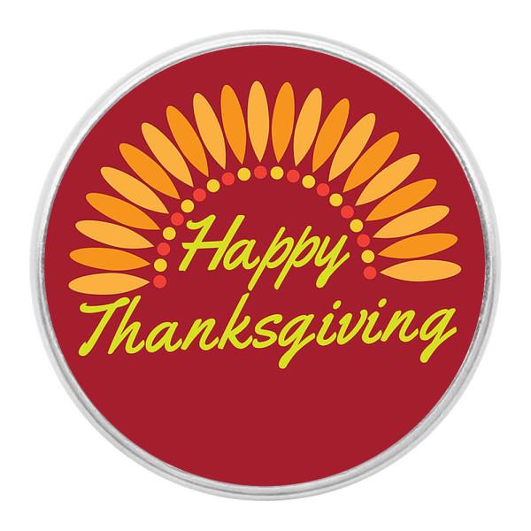 День благодарения защелки художественного стекла с кусочками печати красный апельсин