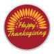 Thanksgiving Day snaps art glass print chunks red orange