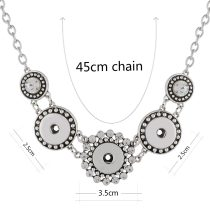 45CM good value necklace fit 18mm chunks snap jewelry