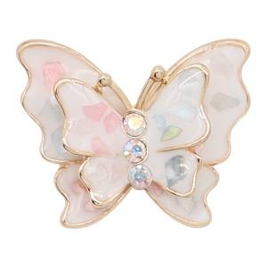 Многоцветная эмаль с покрытием 20MM из позолоченной бабочки с подвесками в виде раковин KC8115 ювелирно защелкивается