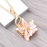20MM snap gold Plated  Flowers  enamel with Multicolor shell charms KC8124 snaps jewerly