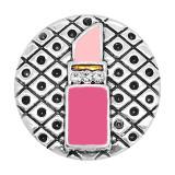 20MM snap argent plaqué rouge à lèvres émail charmes KC8113 s'enclenche bijou