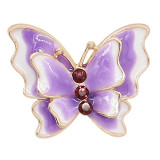 20MM Snap Gold Plated Butterfly lila Emaille Charms KC8116 schnappt jewerly