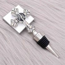 Christmas alloy red wine stopper 20MM snap with With colorful en rhinestones KC1223 snaps jewerly