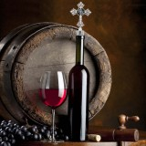 Bouchon à vin rouge en alliage de Noël 20MM snap with Avec en couleur et strass KC1223 s'enclenche de manière joyeuse