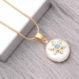 Collar de cadena de oro de serpiente redonda de acero inoxidable de alta calidad 46CM