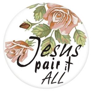 20MM Jesus émail peint métal impression C5945 s'encliquette bijoux