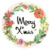 20MM Navidad esmaltado pintado C5939 estampado broches joyería