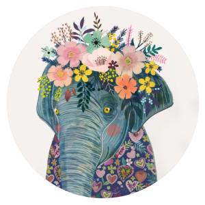20MM éléphant en métal peint émail peint C5937 s'encliquette bijoux
