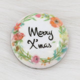 20MM Christmas Painted enamel metal C5939 print snaps jewelry