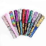10pcs / lot Lentejuelas para niños de color cambiante de sirena, anillos de palmas, pulseras, festival de escenario, regalos de Navidad, joyería de moda (Color enviado al azar)