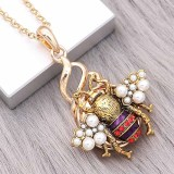 20MM Bees snap gold Plated With  pearls charms KC9318 snaps jewerly