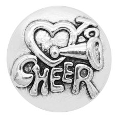 20MM Cheer Snap versilbert Charms KC9326 schnappt edel