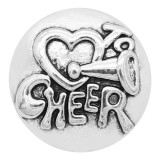 20MM Cheer Snap Breloques Plaqué Argent KC9326 Snaps Jewerly