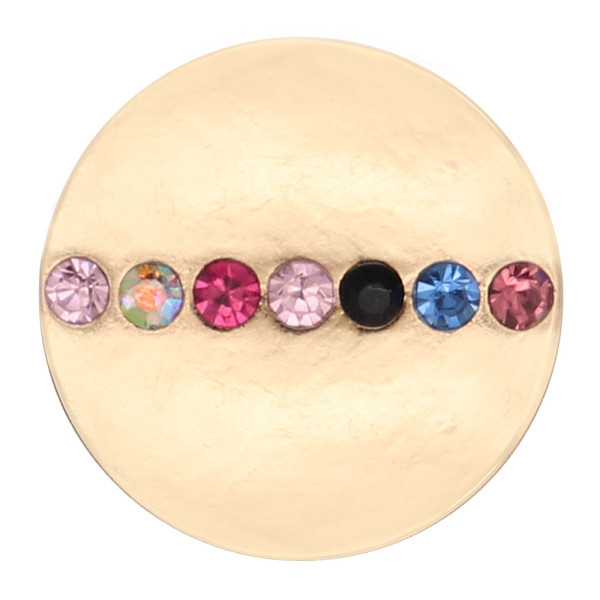 20MM snap gold Plated With Multicolor rhinestones charms KC8144 Multicolor