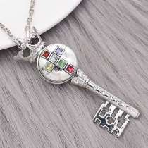 20MM Cross snap Silver Plated With rhinestones charms KC9327 snaps jewerly