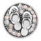 20MM Slippers snap Silver Plated With White strass charms KC8155 snaps jewerly