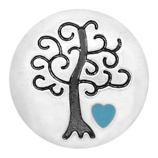 20MM Wisdom Tree snap Silver Plated  enamel of love charms KC8163 snaps jewerly