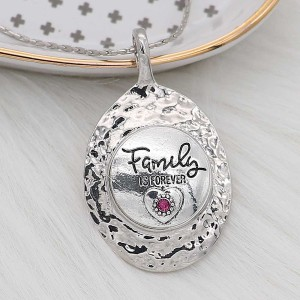 20MM Family snap Silver Plated With rose-red rhinestones charms KC8171 snaps jewerly