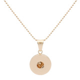 Snap Fashion Collar de oro con colgante en forma 20MM broches estilo joyería KC1321