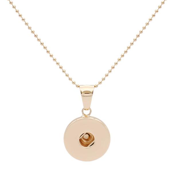 snap Fashion Collier doré avec pendentif fit 20MM snaps style bijoux KC1321