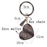 Кожаный брелок для ключей Браслет с кожаной монеткой Брелок браслет с кисточкой коричневый