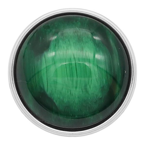 20MM composant logiciel enfichable plaqué argent avec des yeux de chat vert charmes de pierre KC2189 s'enclenche joaillier