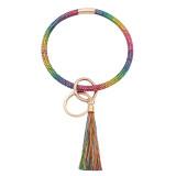 С красочными стразами цвет кожи Большой браслет кольцо Брелок Брелок кисточкой браслет
