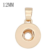 Snap Fashion Gold Colgante con colgante en forma 12MM broches estilo joyería KS0380-S