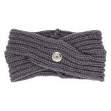 Зимняя вязаная повязка на голову подходит для кнопки 18mm бежевого цвета