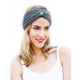Winter Knit Headband fit 18mm Druckknopf beige