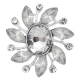 20MM design snap Silver Plated With white rhinestones charms KC9331 snaps jewerly
