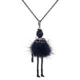 Collier en alliage de poupée Villus Fashion 70cm avec strass